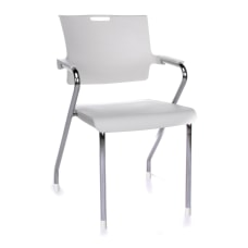 OFM Smart Series Stackable Chairs WhiteChrome