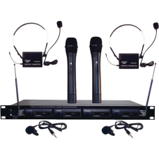 Pyle PDWM4300 Wireless Microphone System 169MHz