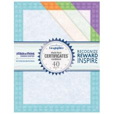Geographics Fashion Certificates 8 12 x