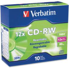 Verbatim CD RW Disc Spindle Pack