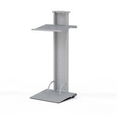 Mayline Lighted Mobile Lectern Silver
