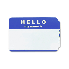Maco Name Badges Hello Blue Pack
