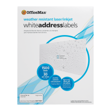 Office Depot Brand Weather Resistant Labels