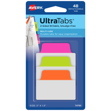 Avery UltraTabs 2 Sided Writable Tabs