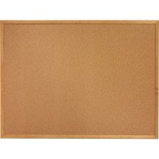Lorell Wood Frame Cork Board 24