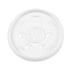 Dart Translucent Slotted Foam Cup Lids