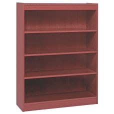 Lorell Veneer Bookcase 4 Shelf 48