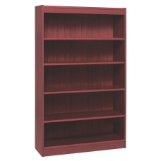 Lorell Veneer Bookcase 5 Shelf 60