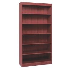 Lorell Veneer Bookcase 6 Shelf 72