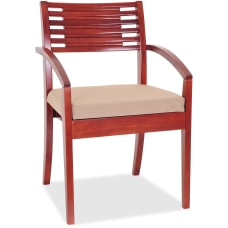 Lorell Wood Guest Chair Beige Fabric