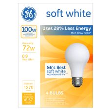 GE Soft White Halogen Light Bulbs