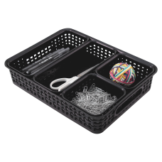 Advantus 5 pack Plastic Weave Bins