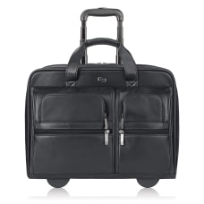Solo Franklin Leather Rolling Case For