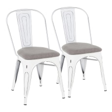 LumiSource Oregon Stackable Dining Chairs Light