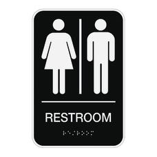Cosco ADA MensWomensUnisex Restroom Sign 6