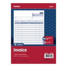 Adams Carbonless Invoice Unit Sets 3