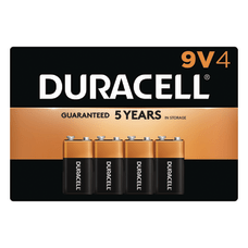 Duracell Coppertop 9 Volt Alkaline Batteries