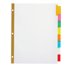 OfficeMax Brand Insertable Dividers 8 Tab