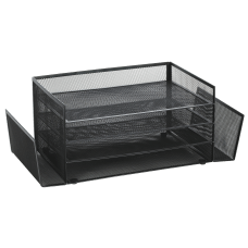 Brenton Studio Black Mesh 4 Shelf