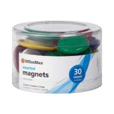 OfficeMax Brand Assorted Size Magnets Assorted