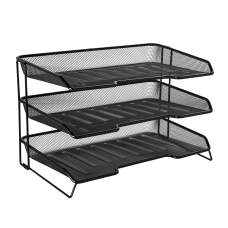Rolodex Mesh Stacked 3 Tier Desk