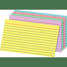 Office Depot Brand Rainbow Index Cards