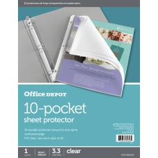 Office Depot Brand 10 Pocket Sheet