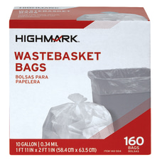 Highmark Wastebasket Trash Bags 10 Gallon
