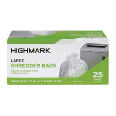 Highmark Large Shredder Bags 15 Gallon