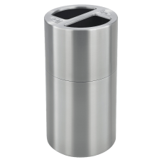 Safco Round Aluminum Dual Recycling Receptacle