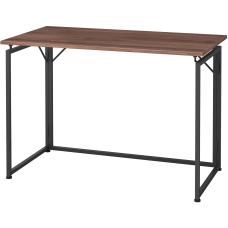 Lorell Folding Desk Walnut Laminate Rectangle