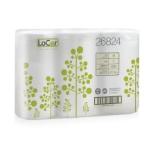LoCor 2 Ply Toilet Paper White