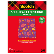Scotch Self Seal Laminating Sheets 8