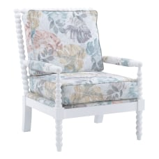Linon Gardner Spindle Accent Chair WhiteTropical
