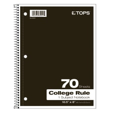 TOPS Notebook 8 x 10 12