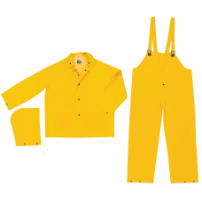 Three Piece Rain Suit JacketHoodBib Pants