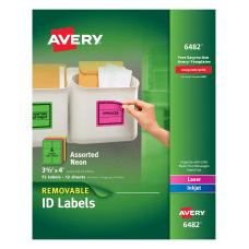 Avery Removable LaserInkjet Organization Labels AVE6482