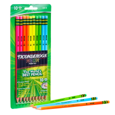 Dixon Neon Colored Pencils Presharpened HB
