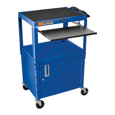 Luxor Adjustable Height Cart With CabinetPullout