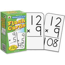 Carson Dellosa Flash Cards Multiplication 0
