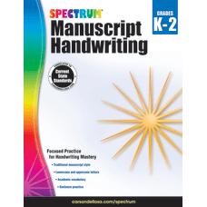 Spectrum Manuscript Handwriting Workbook