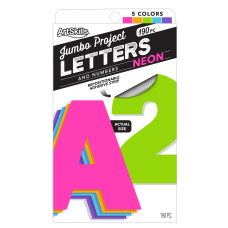 ArtSkills 100percent Recycled Quick Letters 4