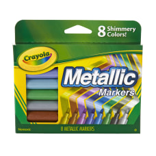 Crayola Metallic Markers Bullet Point Assorted