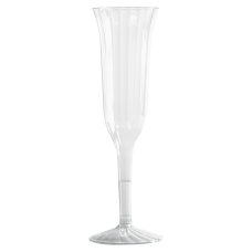 WNA Classic Crystal Plastic Champagne Flutes