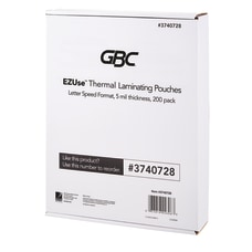 GBC EZUse Thermal Laminating Speed Pouches