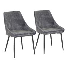 LumiSource Diana Chairs Dark Gray SeatBlack