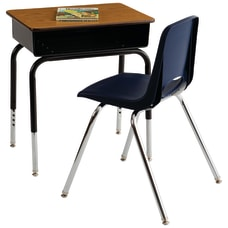 ECR4Kids Adjustable Height Open Front Desk