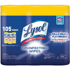 Lysol Disinfecting Wipes 3 pack Wipe