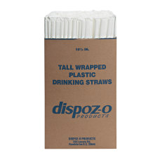Dispoz O Tall Giant Straws 10