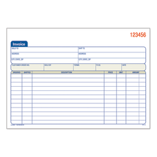 Adams 3 Part Carbonless Invoice Book